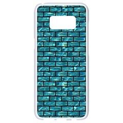 Brick1 Black Marble & Blue Green Water (r) Samsung Galaxy S8 White Seamless Case by trendistuff