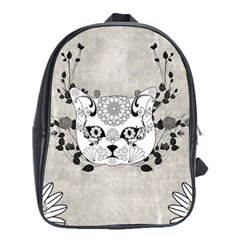 Wonderful Sugar Cat Skull School Bags(large)  by FantasyWorld7