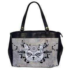 Wonderful Sugar Cat Skull Office Handbags by FantasyWorld7