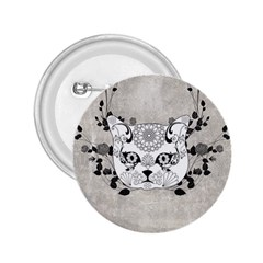 Wonderful Sugar Cat Skull 2 25  Buttons by FantasyWorld7