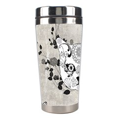 Wonderful Sugar Cat Skull Stainless Steel Travel Tumblers by FantasyWorld7