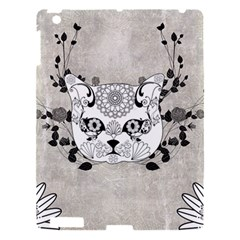 Wonderful Sugar Cat Skull Apple Ipad 3/4 Hardshell Case by FantasyWorld7