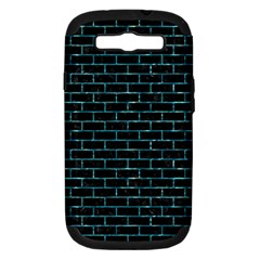 Brick1 Black Marble & Blue Green Water Samsung Galaxy S Iii Hardshell Case (pc+silicone) by trendistuff
