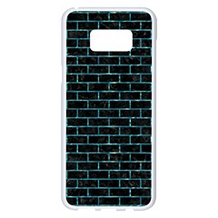 Brick1 Black Marble & Blue Green Water Samsung Galaxy S8 Plus White Seamless Case by trendistuff