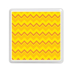 Zigzag (orange And Yellow) Memory Card Reader (square)  by berwies