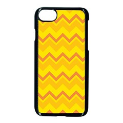 Zigzag (orange And Yellow) Apple Iphone 7 Seamless Case (black) by berwies
