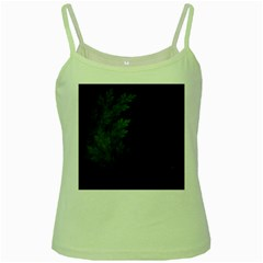 Beautiful Fractal Pines In The Misty Spring Night Green Spaghetti Tank by beautifulfractals