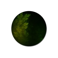 Beautiful Fractal Pines In The Misty Spring Night Magnet 3  (round) by jayaprime