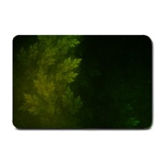 Beautiful Fractal Pines In The Misty Spring Night Small Doormat  by jayaprime
