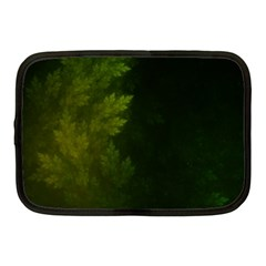 Beautiful Fractal Pines In The Misty Spring Night Netbook Case (medium)  by jayaprime