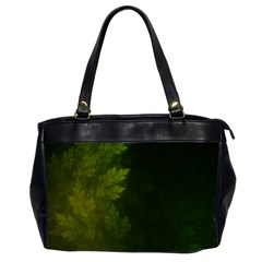 Beautiful Fractal Pines In The Misty Spring Night Office Handbags (2 Sides)  by beautifulfractals