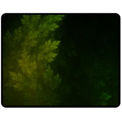 Beautiful Fractal Pines In The Misty Spring Night Fleece Blanket (medium)  by jayaprime