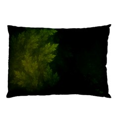 Beautiful Fractal Pines In The Misty Spring Night Pillow Case (two Sides) by jayaprime