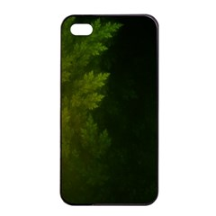 Beautiful Fractal Pines In The Misty Spring Night Apple Iphone 4/4s Seamless Case (black) by jayaprime