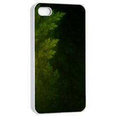 Beautiful Fractal Pines In The Misty Spring Night Apple Iphone 4/4s Seamless Case (white) by jayaprime