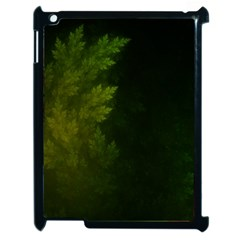 Beautiful Fractal Pines In The Misty Spring Night Apple Ipad 2 Case (black) by jayaprime