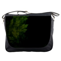 Beautiful Fractal Pines In The Misty Spring Night Messenger Bags by jayaprime