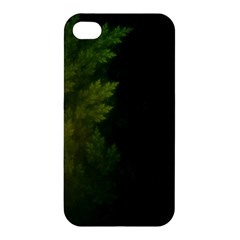 Beautiful Fractal Pines In The Misty Spring Night Apple Iphone 4/4s Premium Hardshell Case by beautifulfractals