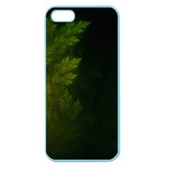 Beautiful Fractal Pines In The Misty Spring Night Apple Seamless Iphone 5 Case (color) by beautifulfractals