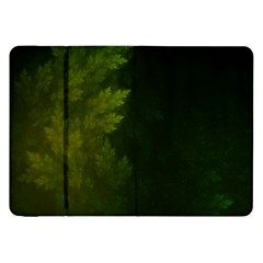 Beautiful Fractal Pines In The Misty Spring Night Samsung Galaxy Tab 8 9  P7300 Flip Case by jayaprime