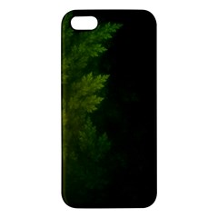 Beautiful Fractal Pines In The Misty Spring Night Iphone 5s/ Se Premium Hardshell Case by jayaprime