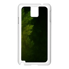 Beautiful Fractal Pines In The Misty Spring Night Samsung Galaxy Note 3 N9005 Case (white) by beautifulfractals