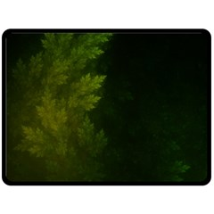 Beautiful Fractal Pines In The Misty Spring Night Double Sided Fleece Blanket (large)  by jayaprime