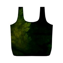 Beautiful Fractal Pines In The Misty Spring Night Full Print Recycle Bags (m)  by jayaprime