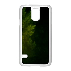 Beautiful Fractal Pines In The Misty Spring Night Samsung Galaxy S5 Case (white) by beautifulfractals