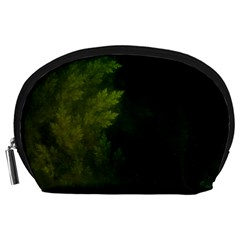 Beautiful Fractal Pines In The Misty Spring Night Accessory Pouches (large)  by jayaprime