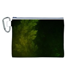 Beautiful Fractal Pines In The Misty Spring Night Canvas Cosmetic Bag (l) by beautifulfractals