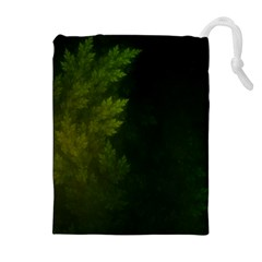 Beautiful Fractal Pines In The Misty Spring Night Drawstring Pouches (extra Large) by beautifulfractals