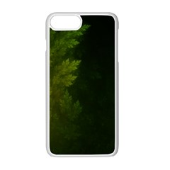 Beautiful Fractal Pines In The Misty Spring Night Apple Iphone 7 Plus White Seamless Case by beautifulfractals