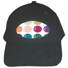 Brights Pastels Bubble Balloon Color Rainbow Black Cap by Mariart