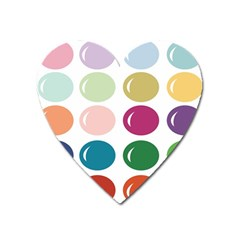 Brights Pastels Bubble Balloon Color Rainbow Heart Magnet by Mariart