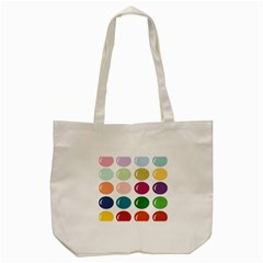 Brights Pastels Bubble Balloon Color Rainbow Tote Bag (cream) by Mariart