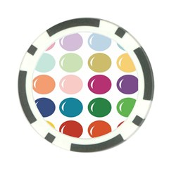 Brights Pastels Bubble Balloon Color Rainbow Poker Chip Card Guard by Mariart