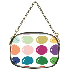 Brights Pastels Bubble Balloon Color Rainbow Chain Purses (one Side)  by Mariart
