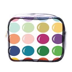 Brights Pastels Bubble Balloon Color Rainbow Mini Toiletries Bags by Mariart