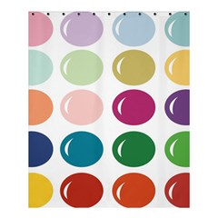 Brights Pastels Bubble Balloon Color Rainbow Shower Curtain 60  X 72  (medium)  by Mariart