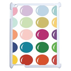 Brights Pastels Bubble Balloon Color Rainbow Apple Ipad 2 Case (white) by Mariart