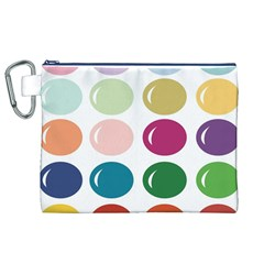 Brights Pastels Bubble Balloon Color Rainbow Canvas Cosmetic Bag (xl) by Mariart