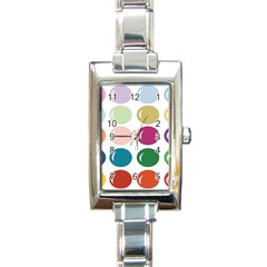 Brights Pastels Bubble Balloon Color Rainbow Rectangle Italian Charm Watch by Mariart