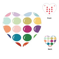 Brights Pastels Bubble Balloon Color Rainbow Playing Cards (heart)  by Mariart