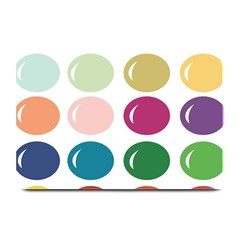 Brights Pastels Bubble Balloon Color Rainbow Plate Mats by Mariart