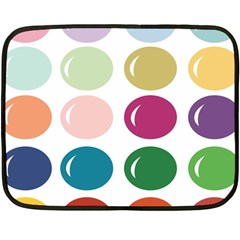 Brights Pastels Bubble Balloon Color Rainbow Double Sided Fleece Blanket (mini)  by Mariart