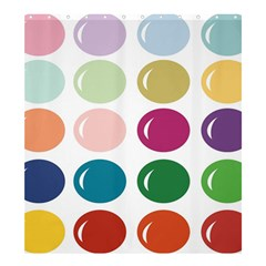 Brights Pastels Bubble Balloon Color Rainbow Shower Curtain 66  X 72  (large)  by Mariart