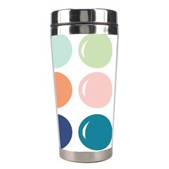 Brights Pastels Bubble Balloon Color Rainbow Stainless Steel Travel Tumblers by Mariart