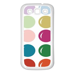 Brights Pastels Bubble Balloon Color Rainbow Samsung Galaxy S3 Back Case (white) by Mariart