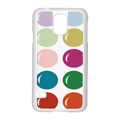 Brights Pastels Bubble Balloon Color Rainbow Samsung Galaxy S5 Case (white) by Mariart